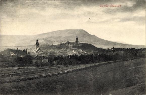 Ak Sondershausen im Kyffhäuserkreis Thüringen, Stadtpanorama