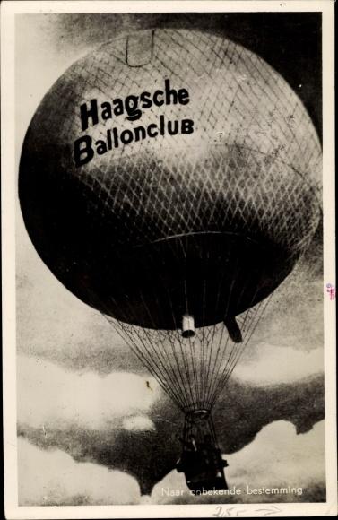 Ak Haagsche Ballonclub, Naar onbekende bestemming