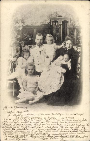 Ak Zar Nikolaus II. von Russland, Zarenfamilie, Zarin, Töchter, OTMA