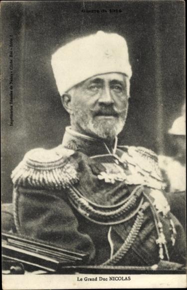 Ak Le Grand Duc Nicolas, Großfürst Nikolai Nikolajewitsch Romanow von Russland, Portrait