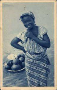 Ak Afrika, Vendeuse de Bière, Afrikanische Verkäuferin, Province de l'Est