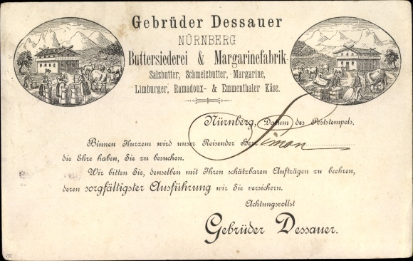Vorläufer Litho Nürnberg, Gebrüder Dessauer Buttersiederei und Margarinefabrik