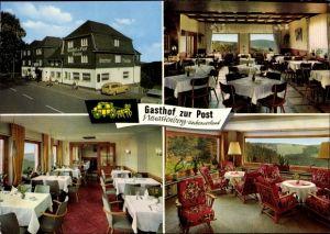 Ak Neuastenberg Winterberg im Sauerland, Ansichten vom Gasthof zur Post, Innen und Außen