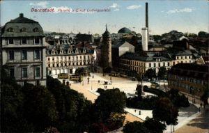 Ak Darmstadt in Hessen, Parade und Ernst Ludwigsplatz