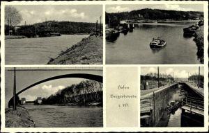 Ak Bergeshövede Riesenbeck Hörstel im Tecklenburger Land, Ansichten vom Hafen, Brücke
