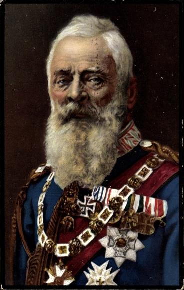 Ak Prinzregent Luitpold von Bayern, Portrait, Trauerkarte 1912