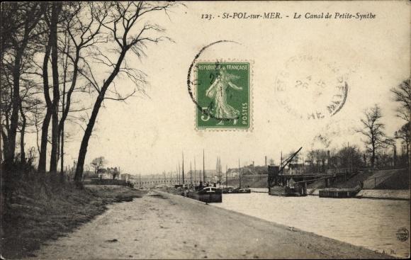 Ak Saint Pol sur Mer Nord, Le Canal de Petite Synthe