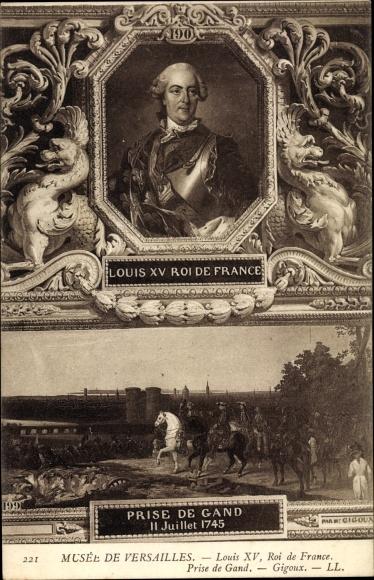 Künstler Ak Gigoux, Louis XV, Ludwig XV., König von Frankreich, Musée de Versailles