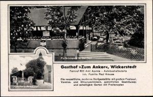 Ak Wickerstedt Bad Sulza in Thüringen, Kolonnade und Garten, Kirche und Denkmal, Gasthof Zum Anker