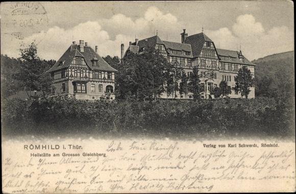Ak Römhild in Thüringen, Heilstätte am Großen Gleichberg
