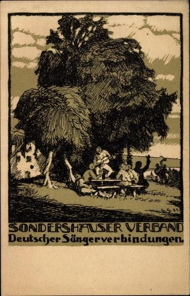 Künstler Ak Sondershausen im Kyffhäuserkreis Thüringen, Deutscher Sängerverbindungen