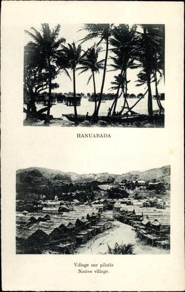 Ak Hanuabada Port Moresby Papua Neuguinea, Village sur pilotis, Dorfansichten