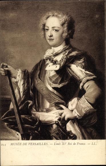 Künstler Ak Louis XV, Ludwig XV., König von Frankreich, Musée de Versailles