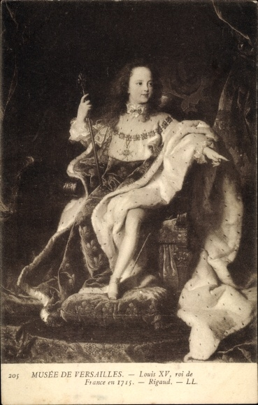 Künstler Ak Rigaud, Louis XV., Ludwig XV., König von Frankreich, Musée de Versailles