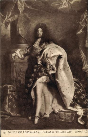 Künstler Ak Rigaud, Louis XIV, Ludwig XIV., König von Frankreich, Musée de Versailles