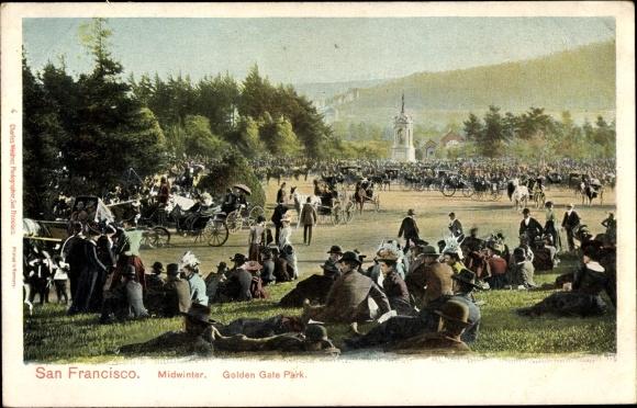Ak San Francisco Kalifornien USA, Golden Gate Park, Midwinter