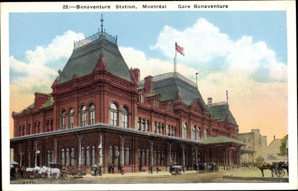 Ak Montreal Québec Kanada, Bonaventure Station, Gare, Bahnhof