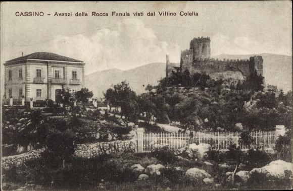 Ak Cassino Lazio, Avanzi della Rocca Fanula visti dal Villino Colella, Rocca Janula