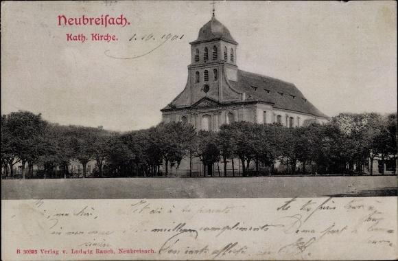 Ak Neuf Brisach Neubreisach Elsass Haut Rhin, Katholische Kirche