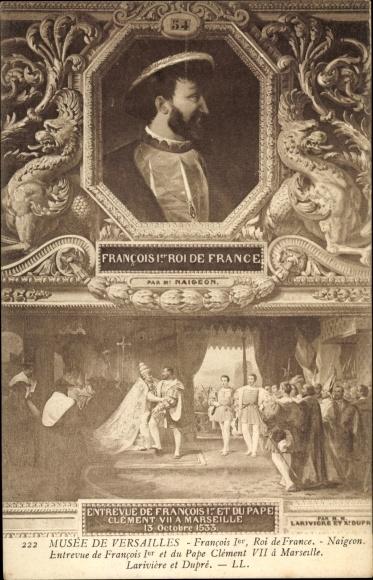 Künstler Ak François I., Franz I., König von Frankreich, Musée de Versailles