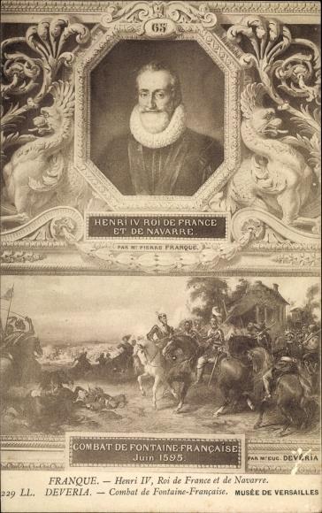 Künstler Ak Henri IV., Heinrich IV., König von Frankreich, Musée de Versailles