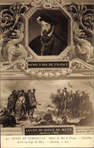 Künstler Ak Henri II., Heinrich II., König von Frankreich, Musée de Versailles