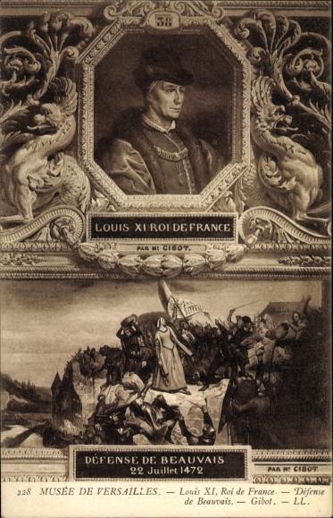 Künstler Ak Gibot, Louis XI., Ludwig XI., König von Frankreich, Musée de Versailles