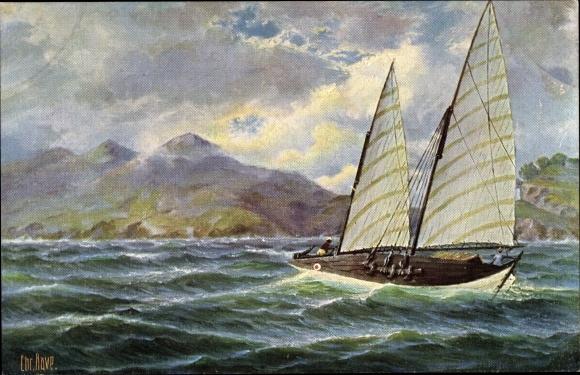 Künstler Ak Rave, Chr., Marine Galerie 115, Fischerboot von Cochinchina, Vietnam, Jetztzeit