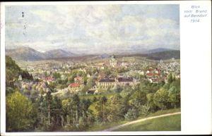 Künstler Ak Berndorf in Niederösterreich, Panoramaaussicht vom Brand, 1914