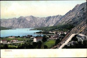 Ak Kotor Cattaro in Montenegro, Panorama von Stadt und Umgebung, Berge