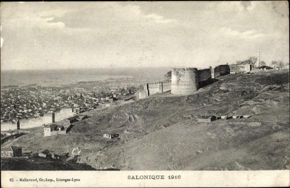 Ak Thessaloniki Griechenland, Vue generale, Totalansicht von der Stadt