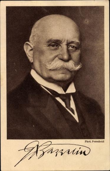 Ak Ferdinand Graf von Zeppelin, Portrait, Zeppelin Eckener Spende