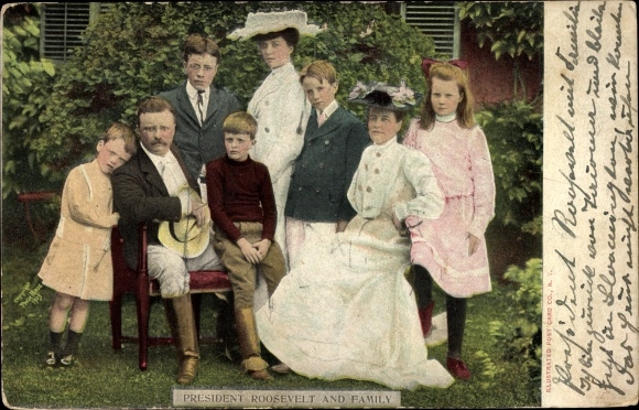Ak President Theodore Roosevelt and Family, 26. US Präsident