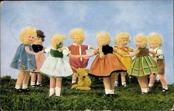 Ak Käthe Kruse Puppen, Ringel Ringel Reihe