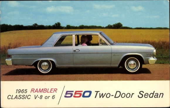 Ak Rambler Classiv V 8 1965, 550 Two Door Sedan, Auto Reklame