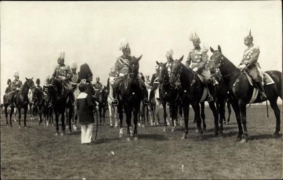 Foto Ak König Ludwig III. von Bayern, Kronprinz Rupprecht von Bayern, Pferde