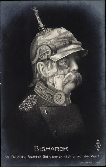 Künstler Ak Otto von Bismarck, Herzog zu Lauenburg, Bundeskanzler, Metamorphose, PFB