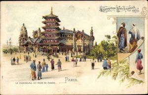 Litho Paris, Exposition Universelle 1900, Le Panorama du Tour du Monde