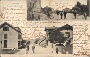 Ak Igney Lothringen Meurthe et Moselle, Frontière franco allemande, Grenze