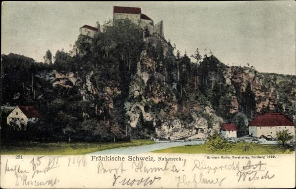 Ak Waischenfeld in der Fränkischen Schweiz Bayern, Burg Rabeneck