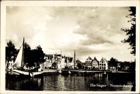 Ak Harlingen Friesland Niederlande, Noorderhaven