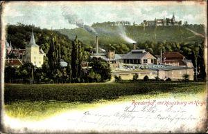 Ak Röderhof Huy in Sachsen Anhalt, Teilansicht mit Huysburg