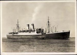 Ak Schnelldampfer Hamburg, Passagierschiff, HAPAG, Ansicht Steuerbord