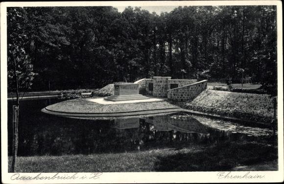Ak Quakenbrück in Niedersachsen, Ehrenhain