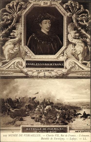 Künstler Ak Lafaye, Charles VII., Karl VII., König von Frankreich, Musée de Versailles
