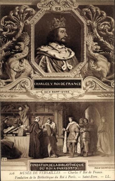 Künstler Ak Saint Evre, Charles V., Karl V., König von Frankreich, Musée de Versailles