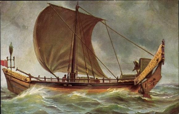 Künstler Ak Rave, Chr., Marine Galerie 166, Segelboot, Hinterindien
