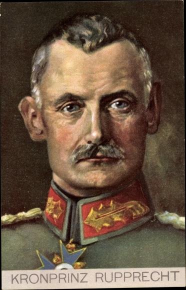 Künstler Ak Kronprinz Rupprecht von Bayern, Portrait in Uniform, Stengel 49281