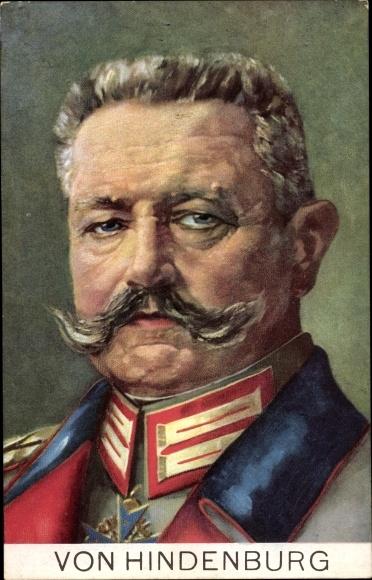 Künstler Ak Generalfeldmarschall Paul von Hindenburg, Portrait in Uniform, Stengel, 49296