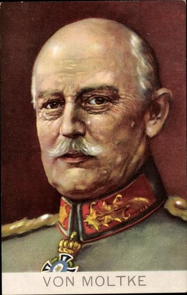 Künstler Ak Generaloberst Helmuth Johannes Ludwig von Moltke, Portrait in Uniform, Stengel 49284